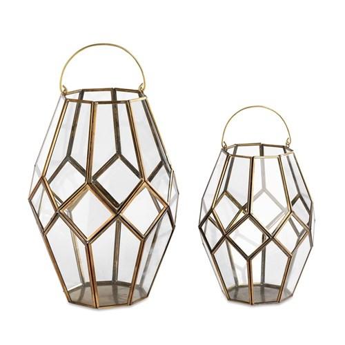 Mohani Lantern, 26 x 20cm, antique brass