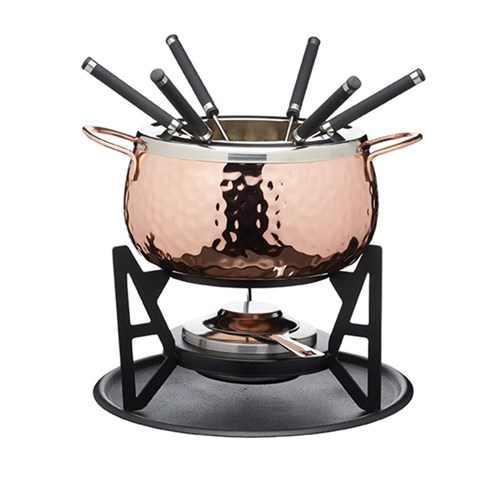 Fondue set, 16cm, copper