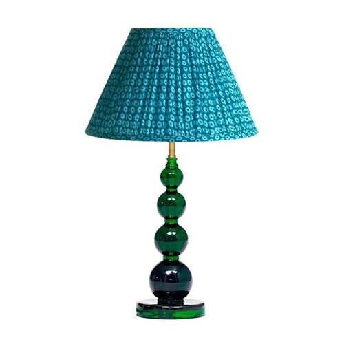 Aurora Table lamp - base only, H32 x W13cm, green