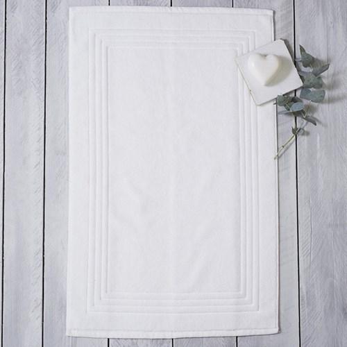 Egyptian Cotton Bath mat, 60 x 90cm, white