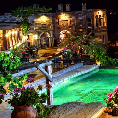 Museum hotel stay and hot air balloon flight for two in Cappadocia