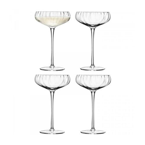 Aurelia Set of 4 Champagne saucers, 300ml, clear optic