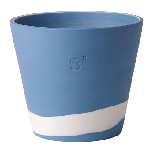 Burlington Planter, 12cm, white/pale blue