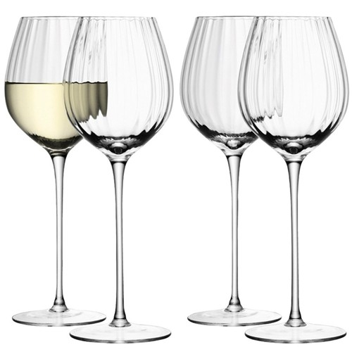Aurelia Set of 4 white wine glasses, 430ml, clear