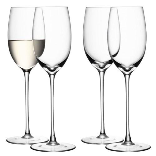 Wine Set of 4 white wine glasses, 340ml, clear