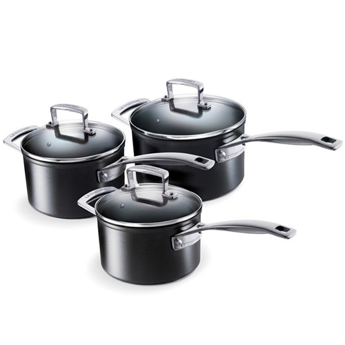 Toughened Non-Stick 3 piece saucepan set