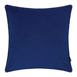 Velvet cushion, W45 x L45cm, navy