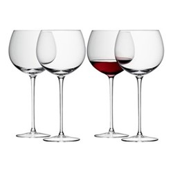 Wine Set of 4 balloon wine glasses, 570ml, clear