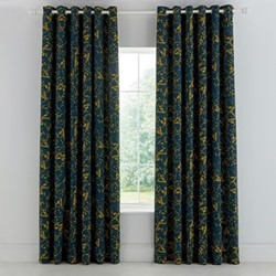 Goosegrass Curtains, 168 x 228cm, blue