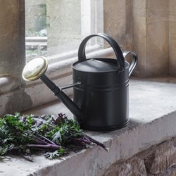 Watering can, 5L, powder coated steel/carbon