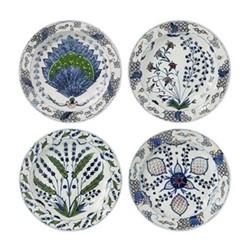 Isphahan Set of 4 side plates, 20cm, multi