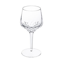 Folia Wine glass no 3, H21.5 x D9cm, clear crystal