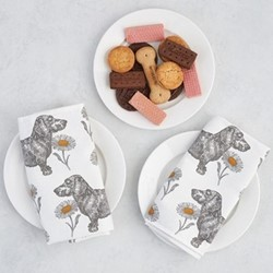 Dog & Daisy Set of 4 napkins, 45 x 45cm
