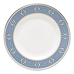 Loop Teaplate, 16.5cm, cornflower blue/white (silver rim)
