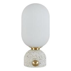 Callie Glass vessel lamp, H30 x D14cm, Multi
