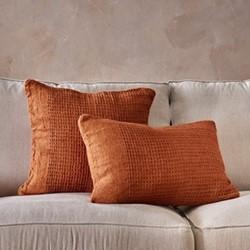 Kadin Cushion Cover Burnt Amber Rectangle, H40 x W60cm