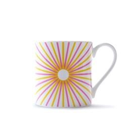 Burst Mug, H9cm - 37.5cl, pink/yellow