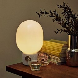 JWDA Table lamp, H29 x D17cm, Light Grey