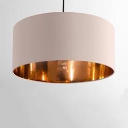 Oro Pendant shade, H20 x W45 x D45cm, pink/copper