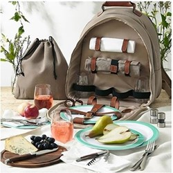 Canvas 4 person picnic carry all, 30cm