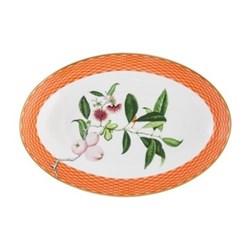 Tresor Fleuri Quenelle dish, L19cm, orange