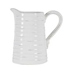Bowsley Tall jug, W14.2 x D21.5 x H21.5cm, white