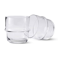 Unda Pair of tumblers, clear