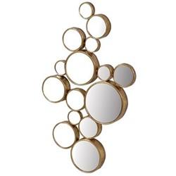 Circles Mirror, H103 x W61cm, gold