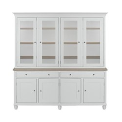 Suffolk Glazed dresser, W190 x D50 x H219cm, silver birch