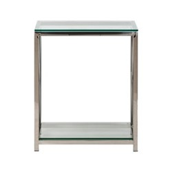 Manhattan Console table, W60 x D40 x H71.4cm, stainless steel/clear glass
