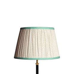 Straight Empire Lampshade, 35cm, aqua squiggles