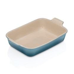 Stoneware Deep rectangular dish, 26cm, marine