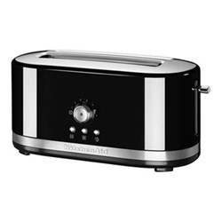 Manual Control Long slot toaster, onyx black