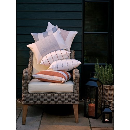 Evie Geometric Outdoor cushion, H55 x W35cm, Burnt Sienna