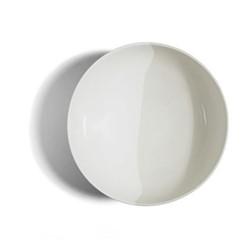 Dip Salad plate, Dia22.5cm, white/cream