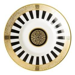 Satori Black Coffee saucer, 11.5cm, black/white/gold