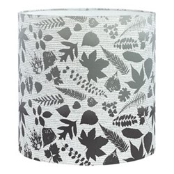 Falling Leaves Standard lampshade, 36 x 36cm, white/grey ombre