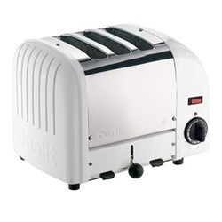 Classic Vario 3 slot toaster, white