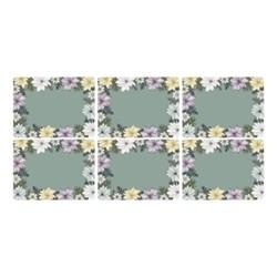 Atrium Set of 6 placemats, 30 x 23cm, green