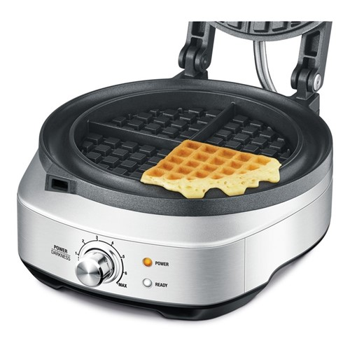 The No Mess Waffle Waffle maker, stainless steel
