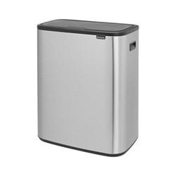 Bo Touch bin, 60 litre, matt steel fingerprint proof