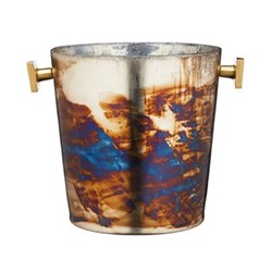 Barcraft Champagne bucket, H15 x D16cm, mecury fire glass
