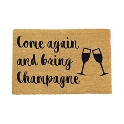 Drink Doormat - Bring Champagne, black/brown