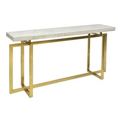 Marguerite Console table, H81 x W160 x D40cm, brass and marble