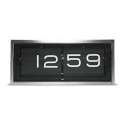 Brick Wall or desk clock, L36 x W12.8 x H15.7cm, stainless steel