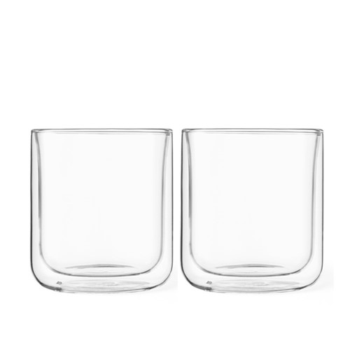 Classic Pair of double walled tea glasses, 25cl, glass