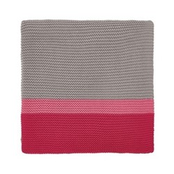 Espinillo Knitted throw, L170 x W130, pink