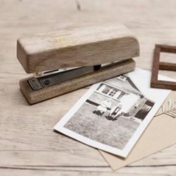 Hansa Wooden stapler, 5.5 x 11.5 x 3cm, mango wood