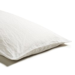 Pair of standard pillowcases, 50 x 75cm, white