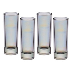 BarCraft Set of 4 shot glasses, 10.4cm, lustre